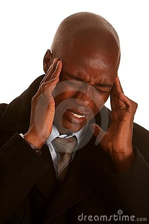 African Man with Headache
