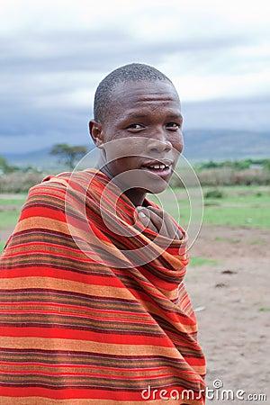 African Man, Masai Mara, Kenya Editorial Image