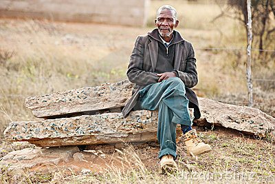 African man resting