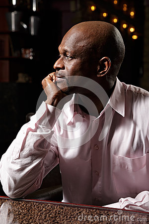 African man sideview