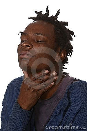 African Man with Sore Throat