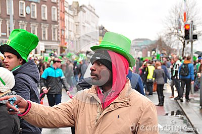 St patricks day Dublin Editorial Photo
