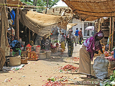 African market Editorial Image