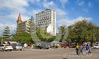 African market Editorial Stock Image