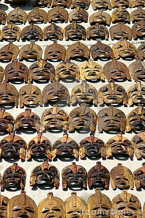 Free African Masks Royalty Free Stock Photography - 4768997