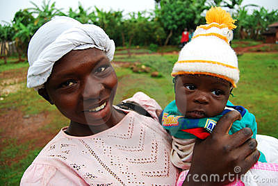 African Mother and Child Editorial Stock Image