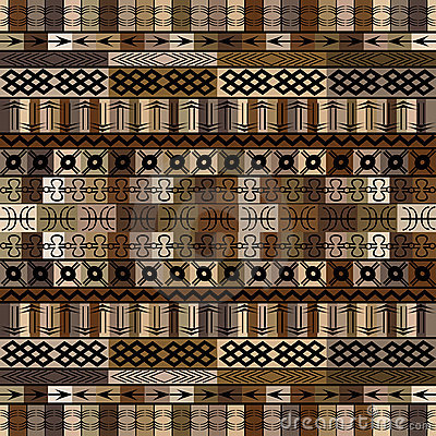 African motifs in brown tones