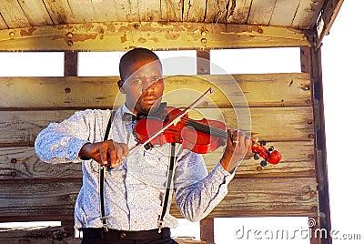 African musician portrait
