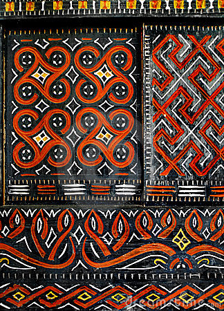 Free African Native Art On Window Royalty Free Stock Photo - 8063445