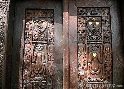African native wood carving