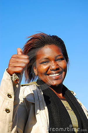 African optimistic woman