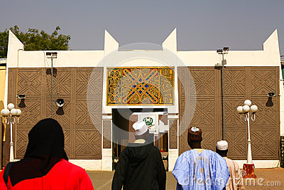 African Palace Gate Editorial Stock Photo