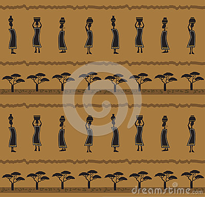 Free African Pattern Royalty Free Stock Photography - 34630027