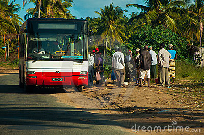 African public transportation Editorial Stock Image