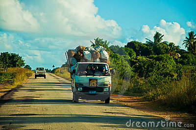 African road Editorial Stock Photo