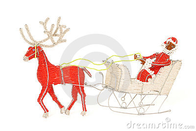 African Santa and sleigh