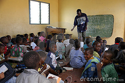 African school Editorial Stock Photo