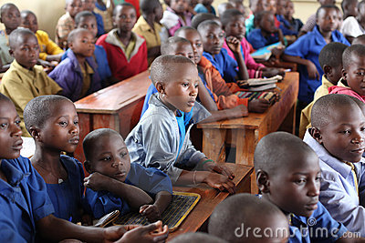 African school children in classroom Editorial Photography