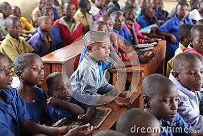 African school children in classroom Editorial Photography