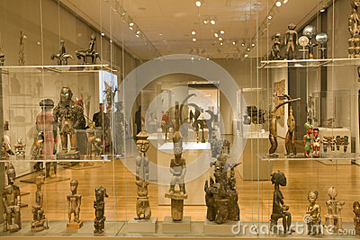 African sculptures in Seattle Art Museum Editorial Stock Photo