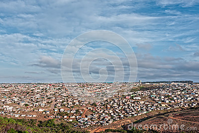 African shanty town