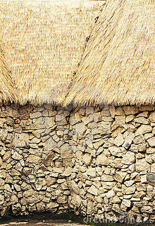 African straw roof