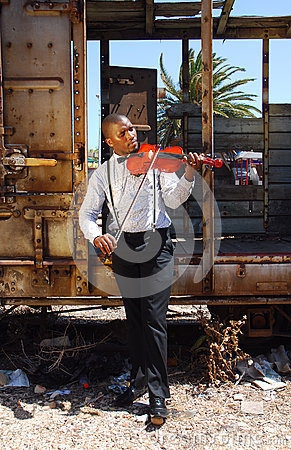 Free African Street Musician Stock Image - 66509241