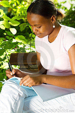 African student studying
