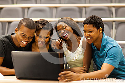 African students laptop
