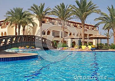 African sunny resort