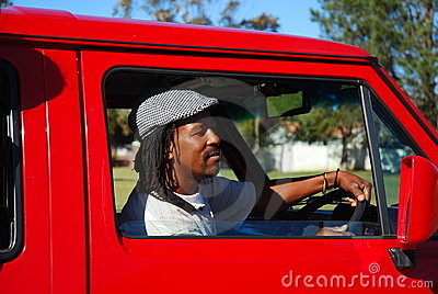 African taxi driver