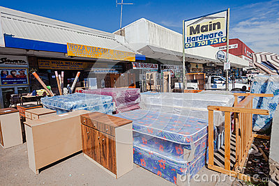 African Street Furniture Stores Editorial Photography