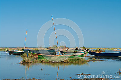 African traditional fishing boats