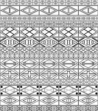 Free African-tribal-art Pattern Royalty Free Stock Image - 14404946