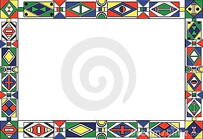 African Tribal Art Pattern S Frame Royalty Free Stock