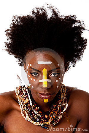 Free African Tribal Beauty Face Royalty Free Stock Photo - 16141955