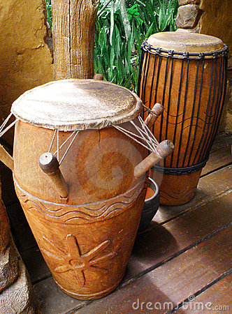 African Tribal Drums Royalty Free Stock Image Image