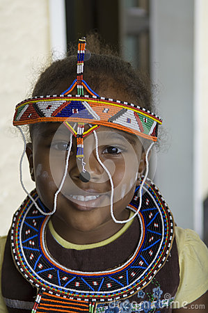 African tribal girl Editorial Stock Image