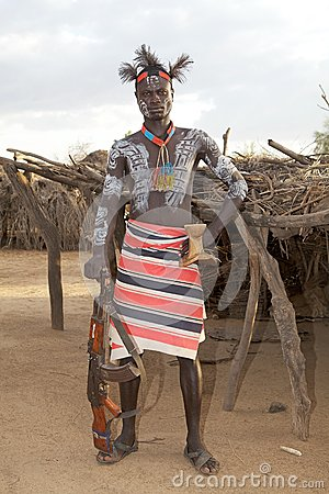African tribal man Editorial Stock Photo