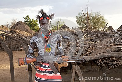 African tribal man Editorial Photo