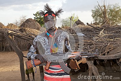 African tribal man Editorial Image
