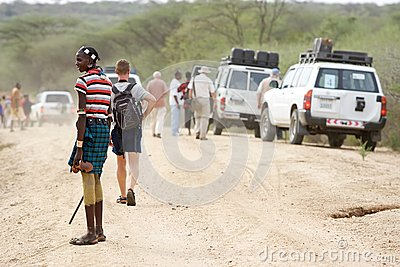 African tribal man Editorial Stock Image