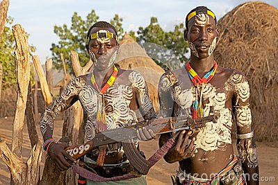 African tribal men Editorial Stock Photo