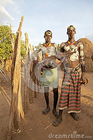 African tribal men Editorial Photography
