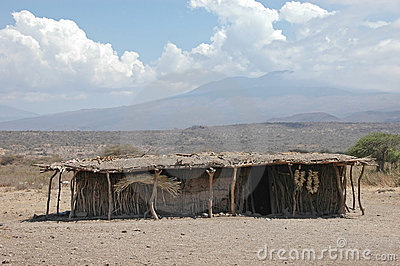 African tribe hut