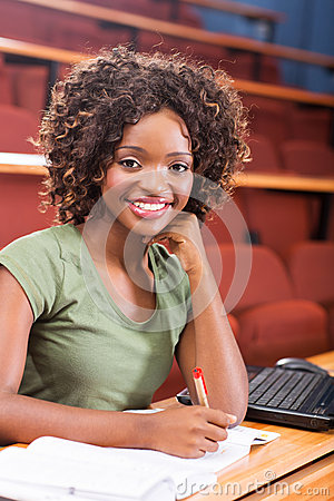 African university student studying