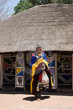 African village Editorial Photography
