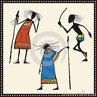 African Warriors Set