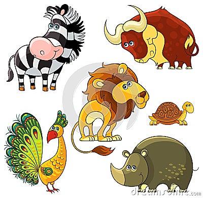 Free African Wild Animals Set Stock Photos - 31421543