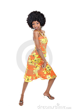 African Woman Dancing Stock Photo - Image: 4966470